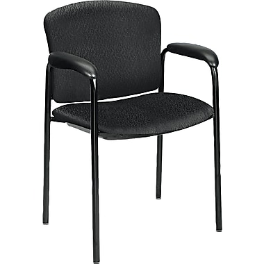 HON® Tiempo® 4600 Guest Chair Without Casters, Black