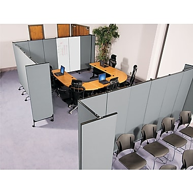 Balt ® Best-Rite GreatDivide Wall System Fabric Starter Set, Gray, 72''H x 8' 1in.W x 30in.D
