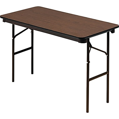 Iceberg 4' Laminate Folding Table , Walnut