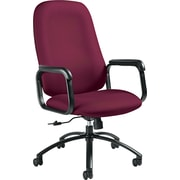 Global Total Office Fabric Conference Office Chair, Fixed Arms, Red (53804BKJN07)