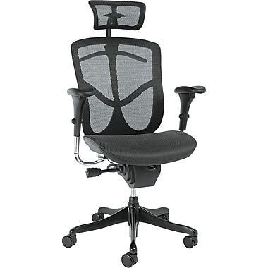Alera ALEEQA41ME10B EQ Mesh High-Back Executive Chair with Adjustable Arms, Black