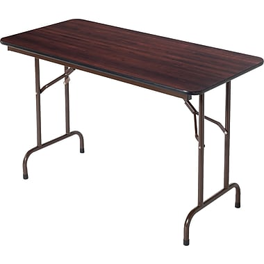 Alera® Melamine Folding Tables Melamine Walnut, 4'