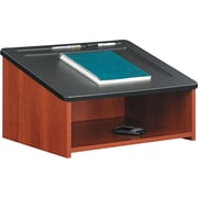 "Safco  18 1/2""D Tabletop Lectern, Cherry"