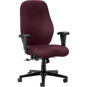 HON High-Back Polyester Fabric Task Chair, Adjustable Arms, Red