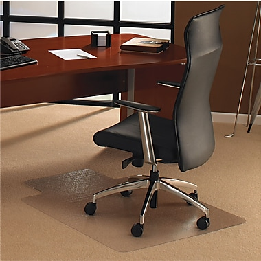 Floortex™ Low to Medium Pile Chair Mat, Clear with Lip, 48in. x 53''