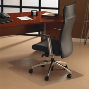 "Floortex®™ Low to Medium Pile Chair Mat, Clear with Lip, 48"" x 53''"
