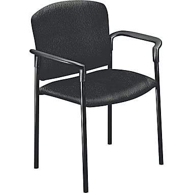 HON ® 4070 Pagoda ® Stacking Guest Chair With Arms, Black