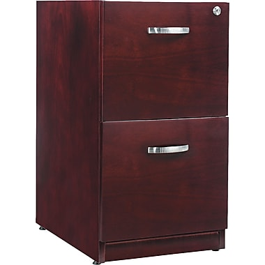 Alera™ Verona Veneer Pedestal File Cabinet With 2 Drawer, 28 1/2in.H x 15 1/4in.W, Mahogany