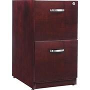 Alera™ Verona Veneer Pedestal File Cabinet With 2 Drawer, 28 1/2H x 15 1/4W, Mahogany