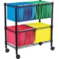 Alera® Wire Mobile File Carts Metal Mobile File, Black