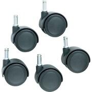 Master Caster ® Safety Standard Neck K Stem Soft Wheel Caster, Matte Black