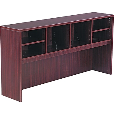 Alera™ Valencia Open Storage Hutch, 35 1/2in.H x 70 5/8in.W x 15in.D, Mahogany