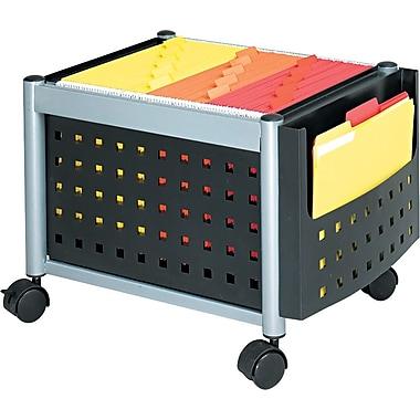 Safco® Scoot™ Mobile File Cart Metal Mobile File, Black