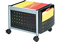 Safco® Scoot™ Mobile File Cart Metal Mobile File, Black