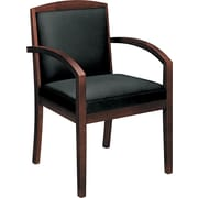 Basyx™ by HON® VL853 Leather Guest Chair, Mahogany