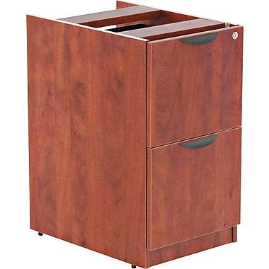 Alera™ Valencia File/File Full Pedestal, 28 1/2in.H x 15 5/8in.W x 22 7/8in.D, Medium cherry
