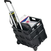 "Safco ® STOW AWAY ® 18""H x 16 1/2""W x 3 1/2""D Folding Caddy, Black"