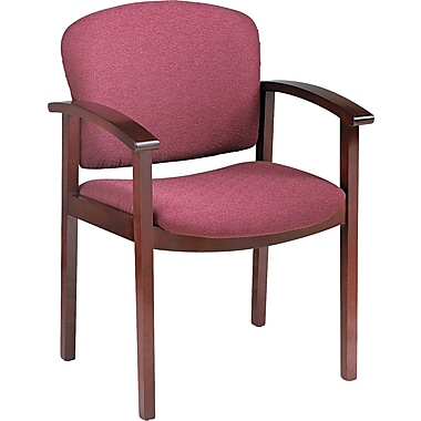 Invitation® HON® 2111 Wood Guest Chair With Arms, Mahogany/Wild Rose