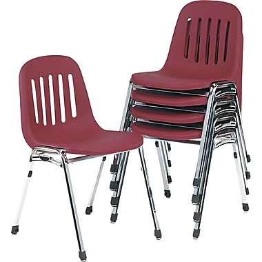 Samsonite ® Graduate Fabric Commercial Stacking Chair, Burgundy