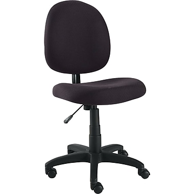 Alera Essentia Fabric Swivel Task Chair, Black
