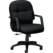 HON  2090 Pillow-Soft  Medium-Back Swivel/Tilt Chair, Black