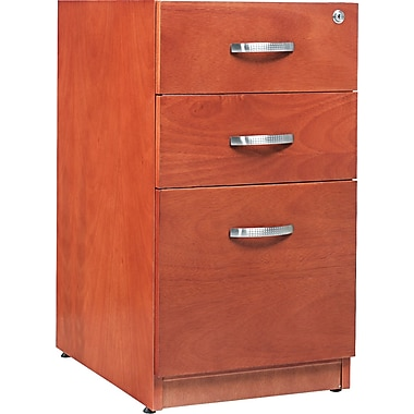 Alera™ Verona Veneer Pedestal File Cabinet With 1 Drawer, 28 1/2in.H x 15 1/4in.W, Cherry