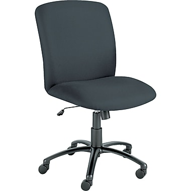 Safco Products 3490BL Uber Polyester High-Back Armless Task Chair, Black