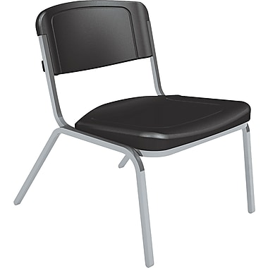 Iceberg ® Rough N Ready Big And Tall Plastic Stack Chair, Black