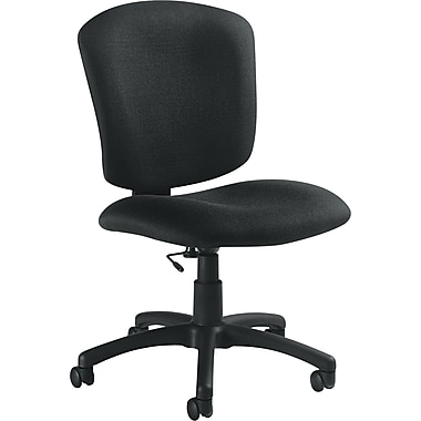Global ® Supra X Medium-Back Plastic Task Chair, Black