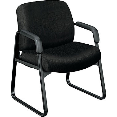 HON ® 3500 Series Pyramid Intensive Use Chairs Tectonic 100% Polyester General Office, Black