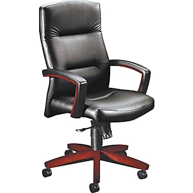HON ® Park Avenue Collection ® 5000 Series Leather, Vinyl Management, Black