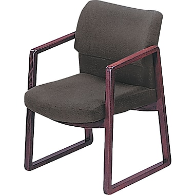 HON® 2400 Series Guest Chair, 100% Olefin, General Office, Gray