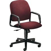 HON ® Solutions Seating ® High-Back Fabric Swivel Chair, Burgundy