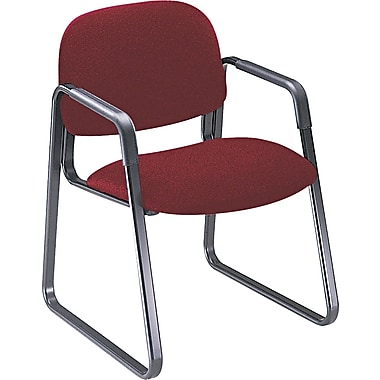 HON® Solutions Seating® 4000 Series 100% Olefin Guest, Burgundy, 32 1/2in.H