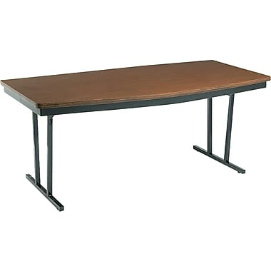 Barricks® 3 1/2in. - 30in.H x 72in.W x 36in.D Conference Folding Table, Walnut