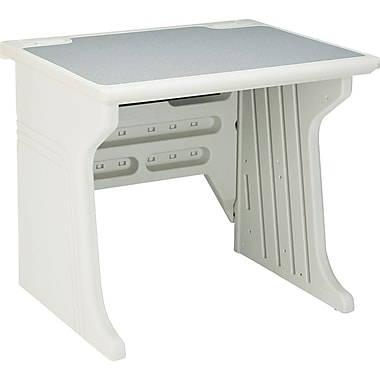 Iceberg® Aspira™ Modular Workstation Desk, 30in.H x 34in.W x 28in.D, Platinum