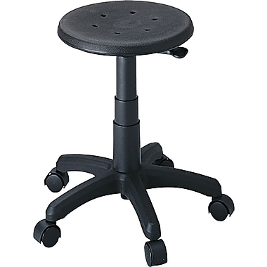Safco® Office Stool Industrial Seating Polyurethane Foam Drafting, Black