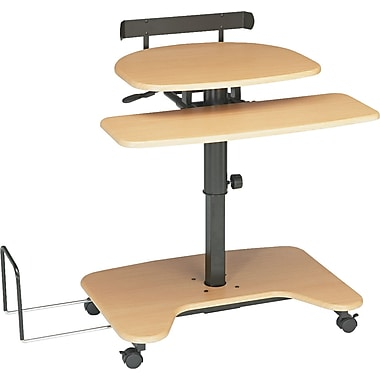 Balt ® Adjustable Pneumatic Workstations Laminate Workstation, Teak Black
