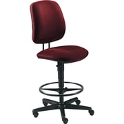 HON® 7700 Series Fabric Pneumatic Drafting/Task Stool, Burgundy