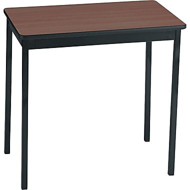 Barricks Utility Table Woodgrain Laminate, Walnut/Black, 30in.H x 30in.W x 18in.D