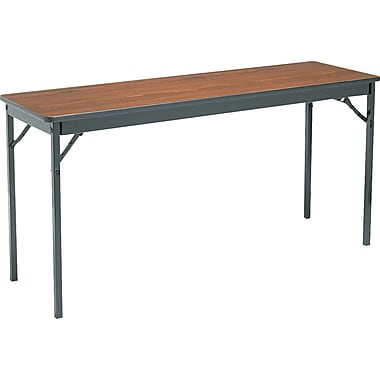 Barricks Laminate Special Size Folding Table Laminate Walnut/Black, 5'