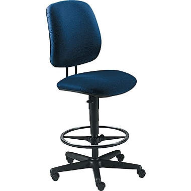 HON 7700 Series 32.5in. Pneumatic Low-Back Drafting Task Stool, Blue (7705AB90T)