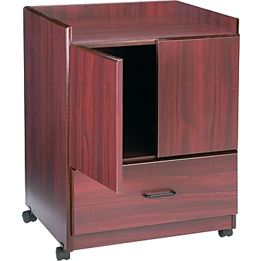 Advantus® Vertiflex™ 30 3/4in.H x 23in.W x 19in.D Mobile Deluxe Coffee Bar, Mahogany