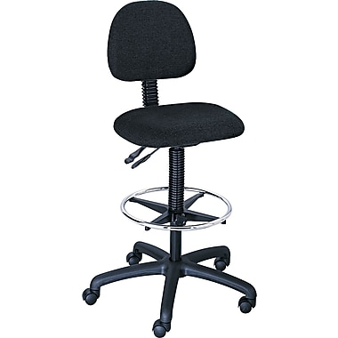Safco ® Trenton Series Stools 30% Polyester, 70% Olefin Drafting, Black