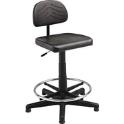 Safco ® TaskMaster ® Drafting/Workbench Fabric Industrial Chair, Black