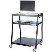 Safco® 28D Wide Base AV Cart, Black
