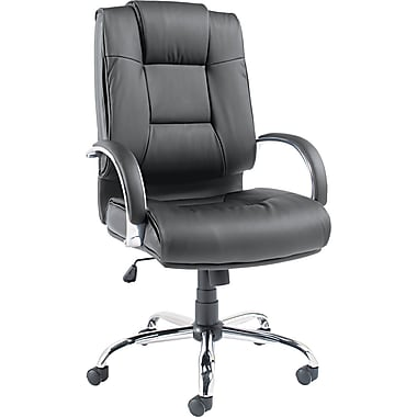 Alera™ Ravino High-Back Leather Swivel/Tilt Chair, Black