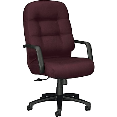 Pillow-Soft® HON® 2090 High-Back Fabric Executive Swivel/Tilt Chair, Burgundy