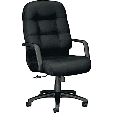Pillow-Soft® HON® 2090 High-Back Fabric Executive Swivel/Tilt Chair, Black