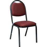 Virco® 8900 Series Upholstered Stack Chairs, 100% Olefin, Breakroom & Hospitality, Sedona Ruby